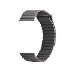 Läderband till Apple Watch 42/44mm GRÅ