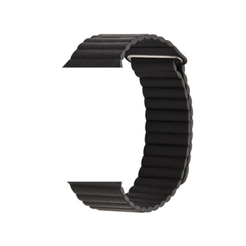 Läderband till Apple Watch 42/44mm SVART