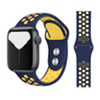Silikonband för Apple Watch Blå/Gul 42/44mm