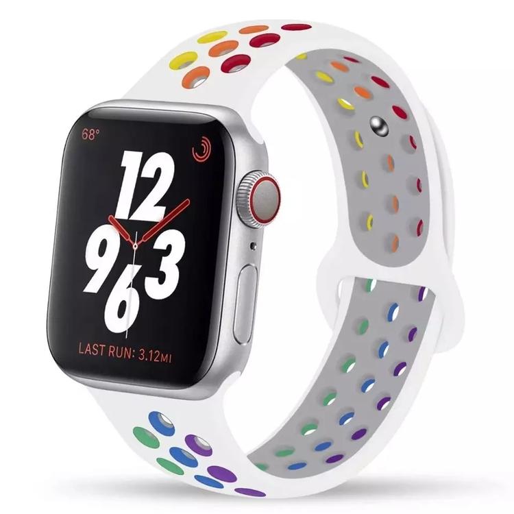 Silikonband för Apple Watch Vit/Multi 42/44mm