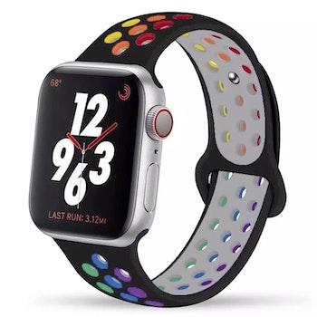 Silikonband för Apple Watch Svart/Multi 42/44mm