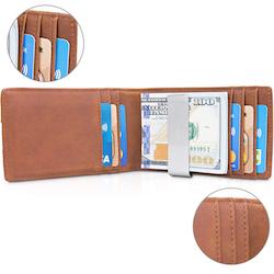Plånbok med Äkta Läder - RFID