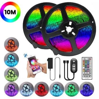True RGB LED-list / Bluetooth / 16 milj färger - 10m Ljusslinga