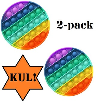 2pack - Rainbow / Fidget / Toy / Pop it / Leksak / Antistress