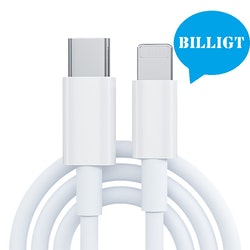 iPhone kabel för Apple 11/12 USB-C till Lightning 1M Vit