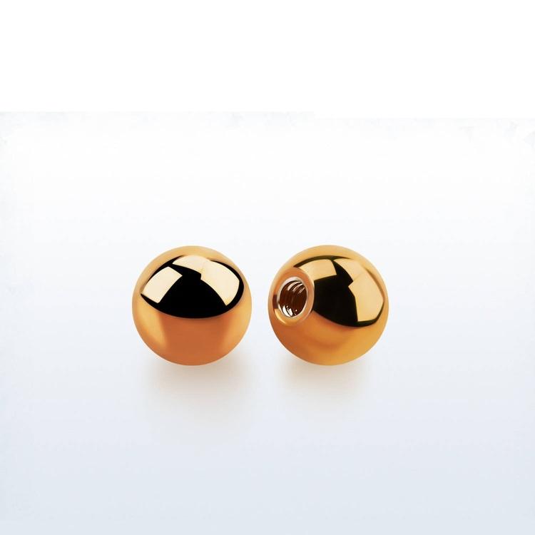Lös kula PVD-Pläterad roséguld 6mm diameter 1.6mm gänga (lös del)