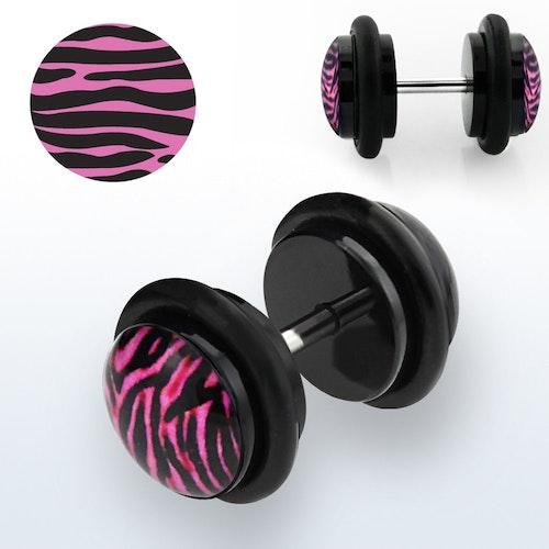 Fakeplugg med rosa zebra