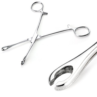 Mini Type Slotted Sponge Forceps