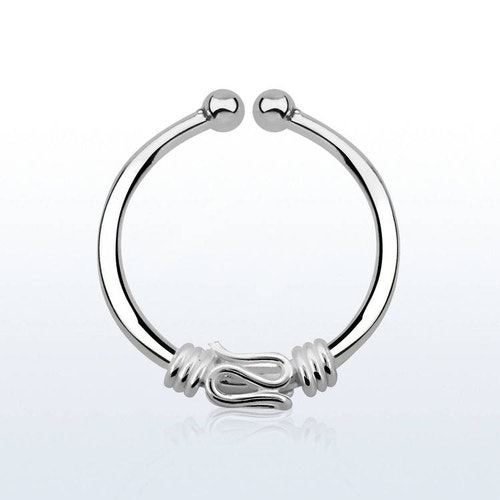 925 Silver Fake Septum - Balinese wire