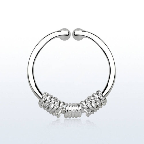 925 Silver Fake Septum - 3 rep