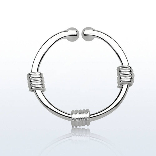 925 Silver Fake Septum - 3 wire