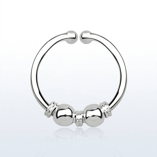 925 Silver Fake Septum - 3 wire 2 bollar