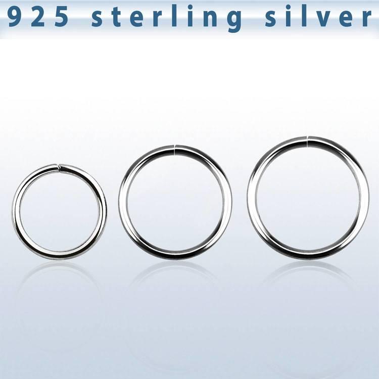 Sömlös ring i 925-silver 0.8mm