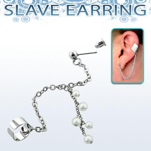 Örhänge - Kedja med fake-helix och Pärlor