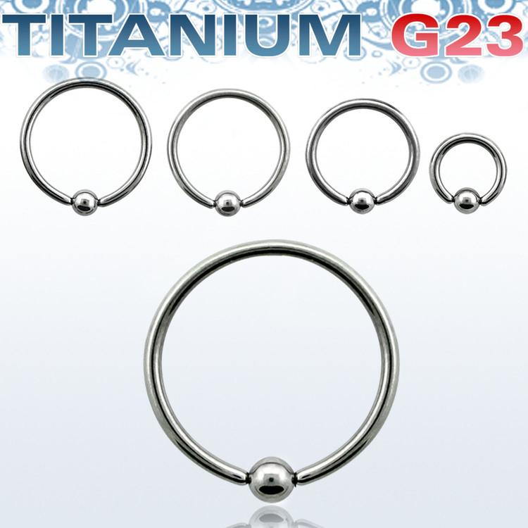 Titanium BCR 1.2mm med 3mm kula