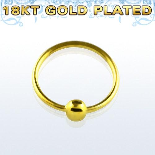 Näsring i guldpläterad 925 silver (0.6mm - 8mm)