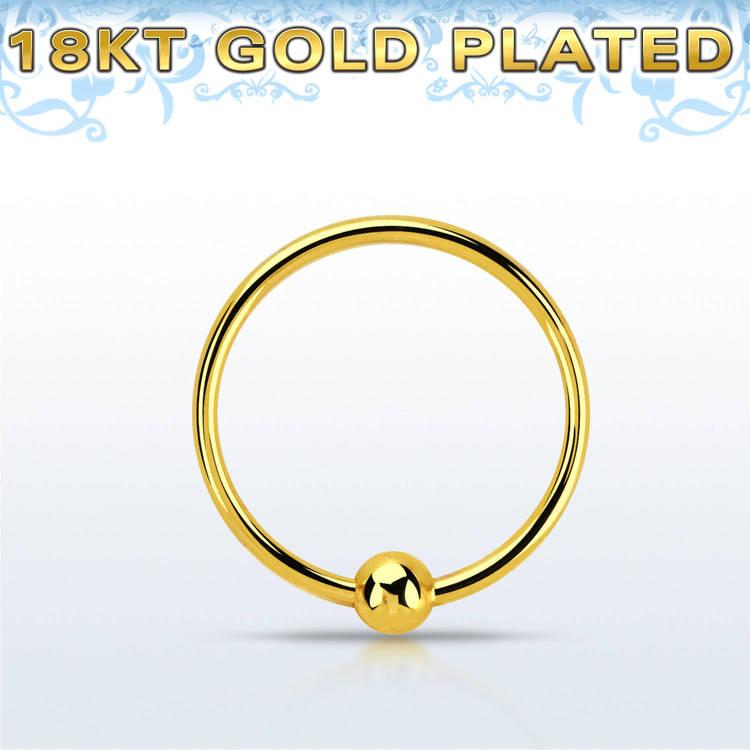 Näsring i guldpläterad 925 silver (0.6mm - 10mm)