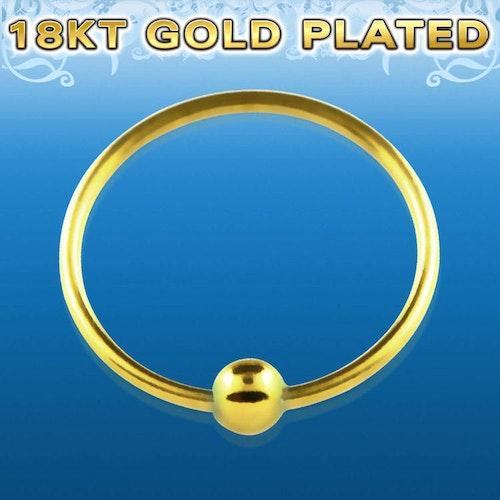 Näsring i guldpläterad 925 silver (0.6mm - 12mm)
