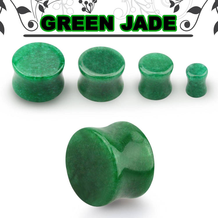 Grön stenplugg (Jade)