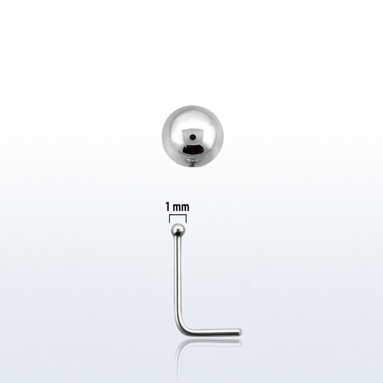 Nässmycke i silver 0.6mm med 1mm boll