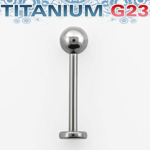 Titanium Labret 1.2mm med 4mm kula