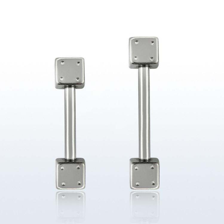 Barbell 1.2mm med 3mm tärningar