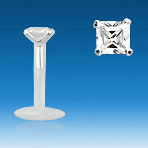 Bio-Flex Labret 1.2mm med 3mm CZ