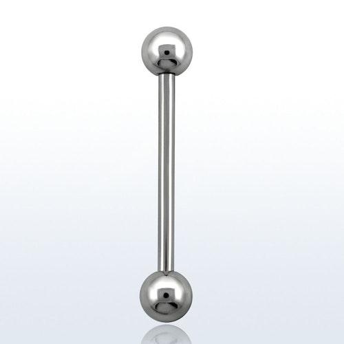 Barbell 1.6mm med 5mm kulor