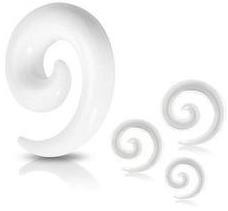 Töjspiral i vit akrylplast