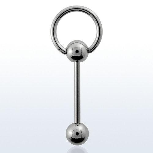 Tungstav / Barbell 1.6mm med slavring