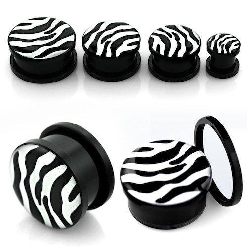 Akrylplugg Zebra