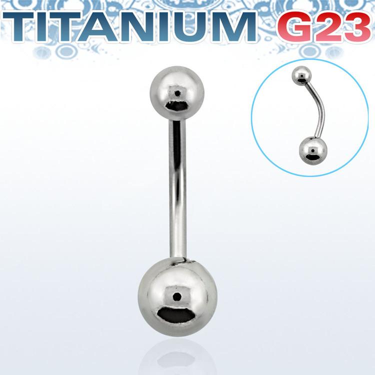 Titanium Banana 1.6mm med 5 & 6mm kula