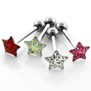 Tungstav / Barbell med crystalstjärna