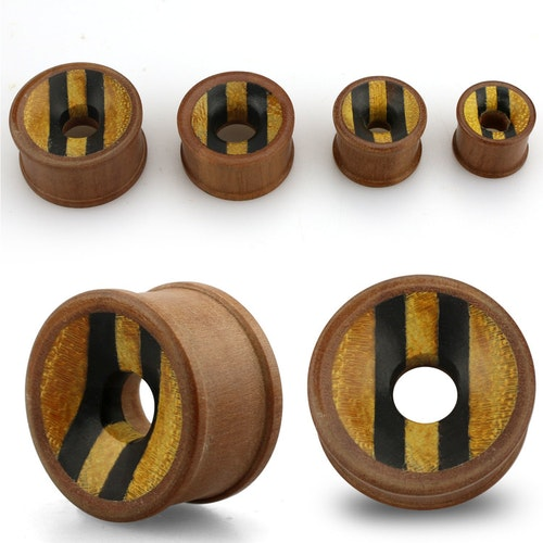 Trätunnel med tre olika träslag