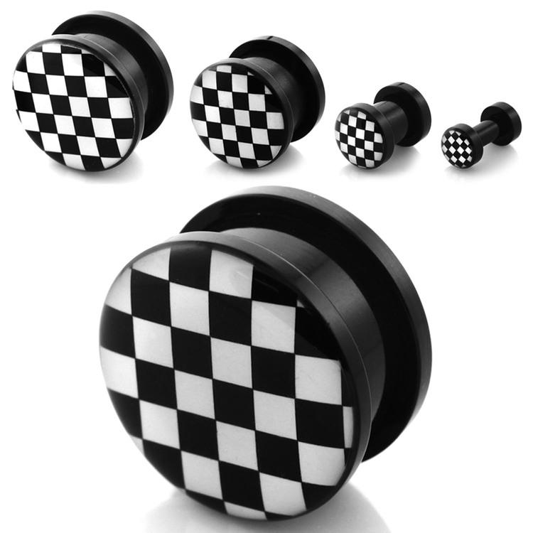 Akrylplugg  schackrutor