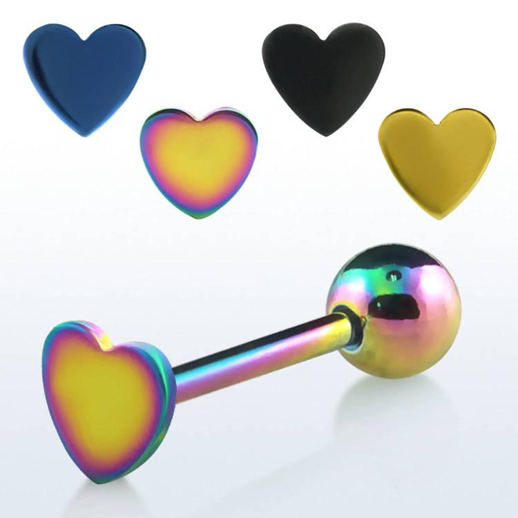 Eloxerad barbell 1.6mm med hjärta