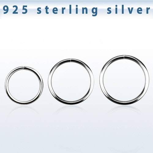 Sömlös ring i 925-silver 0.6mm