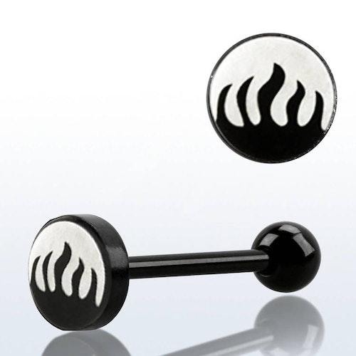 Barbell / Tungstav med flames