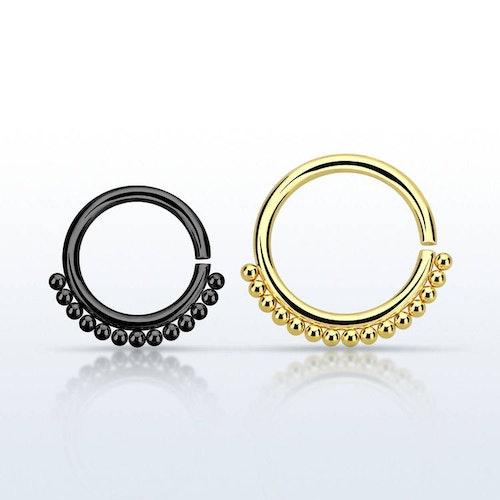 PVD Pläterad Septum Ring 1.2mm kirurgiskt stål