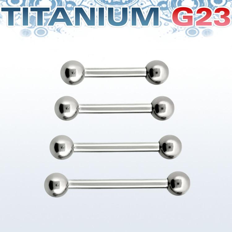 Titanium Barbell 1.6mm med 4mm kulor