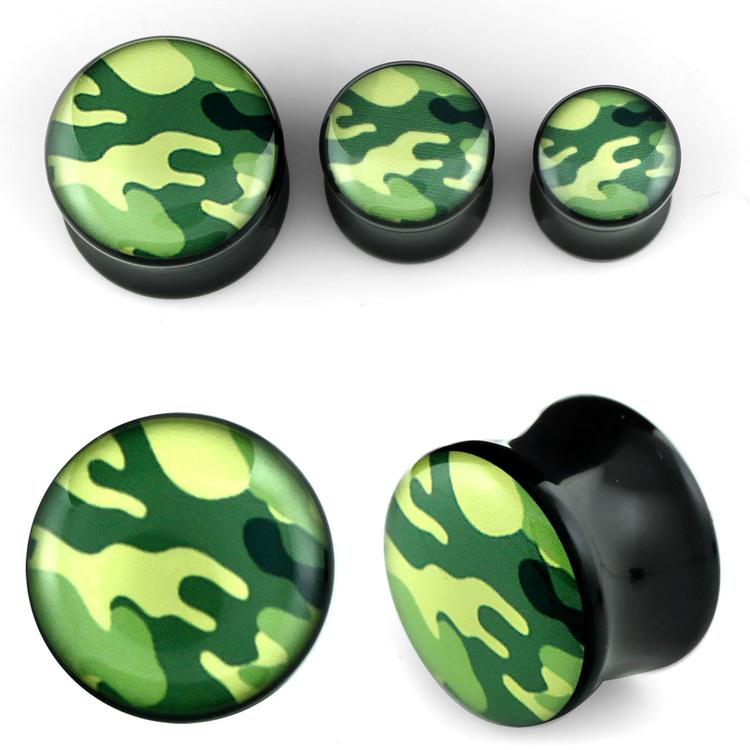 Akrylplugg med kamouflage