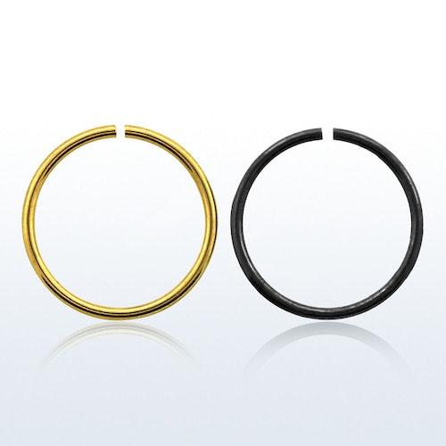 PVD-Pläterad sömlös ring 0.8mm