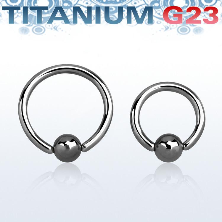 Titanium BCR 1mm med 3mm kula
