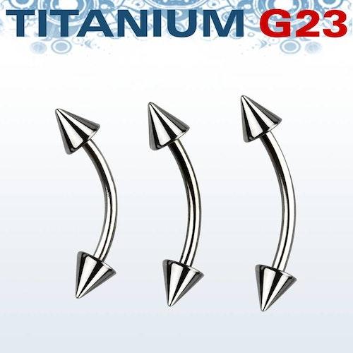 Titanium Banana 1.2mm med 3mm kon