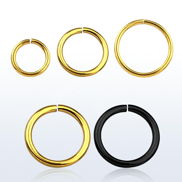 PVD-Pläterad sömlös / seamless ring 1.0mm