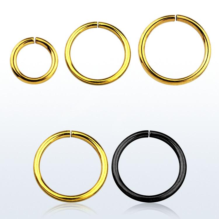 PVD-Pläterad sömlös / seamless ring 1.2mm