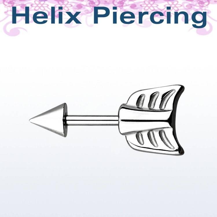 Helix Barbell 1.2mm med pilände och kon