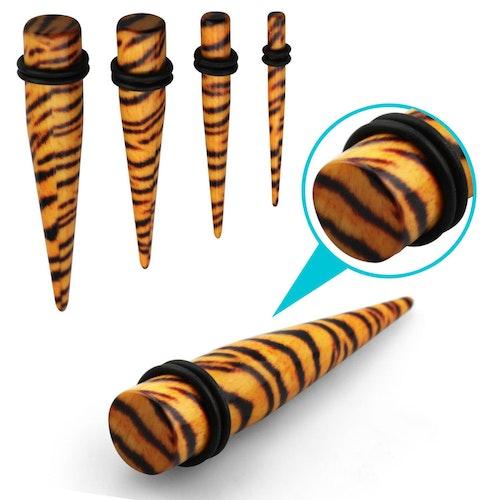 Töjning / Taper med tigerpäls