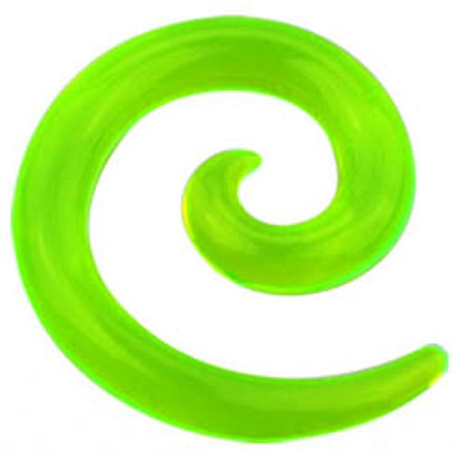 Grön Töjspiral i akryl