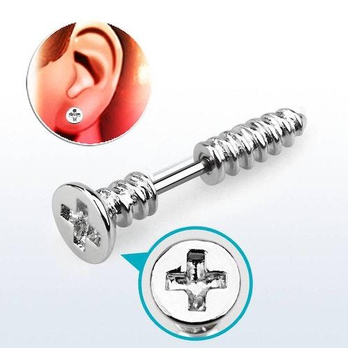 Örhänge / Helix Barbell 1.2mm med skruv